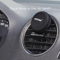 Mpow Grip Pro 2 Universal CD Slot 360 Degree Rotation/ Air Vent Magnetic Car Mount (mpow air vent car mount-black), Black #MCM3