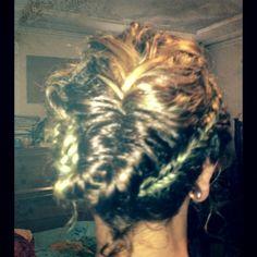 Back view of Rita's braid