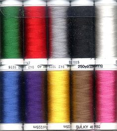Sulky Of America 268d 40wt 2Ply Top 10 Rayon Thread Set 250 yd ** Click image to review more details.