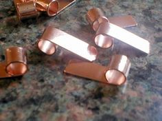 Copper Tube Top Bails  Lot of 20 Copper Bails DIY by WillowGlass, $22.00