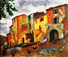 Village Street, Collioure by Charles Camoin (France)