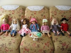 Does your little girl have friends with American Girl Dolls?  Why not invite them over for an American Girl Doll party.