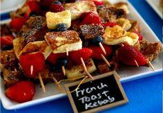 Tip - Wentelteefjes op stokjes met fruit - Zonnigfruit