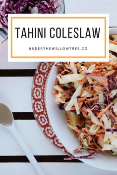 Swap out your old coleslaw recipe with this new one. Creamy Coleslaw, Vegan Coleslaw, Delicious Vegan Recipes, Healthy Recipes, Jackfruit Burger, Vegan Side Dishes, Naan, Food Photo, Feta