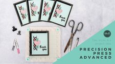 Contents: One Precision Press Advanced tool One removable foam mat Extra strong magnets Acrylic Stamping Block Stamping Base We R Memory Keepers, Project Ideas, Projects, Stamping, Card Making, Paper Crafts, Memories, Make It Yourself, Video Tutorials
