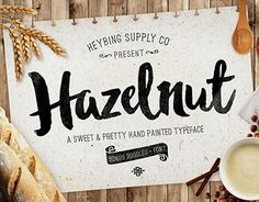 "Check out new work on my @Behance portfolio: ""Hazelnut Hand Painted Typeface - Released!"" http://on.be.net/1iSrqFL"