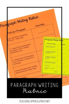 The purpose of a paragraph writing rubric is to give students a checklist. This checklist will tell students what is expected to be included in a well-written paragraph. As educators we expect students to write a complete paragraph. Continuous modeling of paragraph writing is needed regularly. Additionally, providing students a checklist with clear expectations. All students need a visual description of expectations broken down by category.