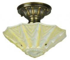 Antique Glass Ceiling Bowl Light Fixture