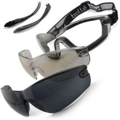/** Priceshoppers.fr **/ Kit lunettes / msque Bollé Safety COBRA verres Incolores, ESP et teinté (soleil) pour protection des yeux homme/femme sport ski voile kitesurf surf snowboard glisse moto airsoft tir élastique mousse