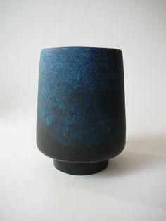 Ruscha Vase Blue Glaze 808/1 WGP West German by DancesWithVases