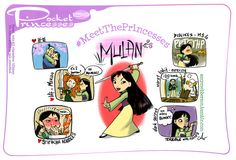 Pocket Princesses 159: Meet Mulan Please reblog, do not repost or remove captions Facebook page