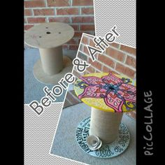 Upcycling DIY Project Wooden Spool Stool