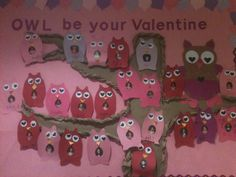 February - Owl Be Your Valentine bulletin board