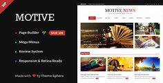 Motive – Magazine, News, Blog WordPress Theme (News / Editorial) Download ThemeSphere, blog, clean, drag & drop, editorial, flexible, magazine, mega menu, modern, news, newspaper, review, rtl download