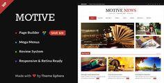 Motive – Magazine, News, Blog WordPress Theme (News / Editorial) Download ThemeSphere, blog, clean, drag & drop, editorial, flexible, magazine, mega menu, modern, news, newspaper, review, rtl download