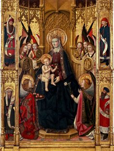 Jaume Huguet -  Madonna di Vallmoll ( 1450 )