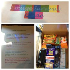 College Survival Kit  Fun idea...created by my daughter for her friend!