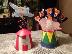 Just made these DUMBO centerpieces for my nephew. <3