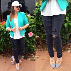 blazer and jeans outfit idea ♥ contact 239-313-7298 to order. www.facebook.com/denimianco for more ideas #style #outfitidea