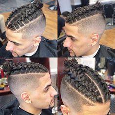 Braids With Fade, Braids For Boys, Two Braids Men, Plats Hairstyles, Mens Braids Hairstyles, Short Hair For Boys, Braids For Short Hair, Two Cornrow Braids, Box Braids