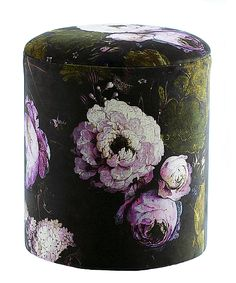 Floralism Pouffe The French Bedroom Company Dark Bohemian, Bohemian Style, Boho, Bedroom Stools, Velvet Stool, Ottoman, French Armoire, Dressing Table With Stool, Ornate Mirror
