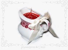 Tassenkerze / Cup candle: MILCHKÄNNCHEN... wanna buy something like this? visit my shop: http://de.dawanda.com/shop/Mondcatze ...or contact me : Mondcatze@fantasymail.de