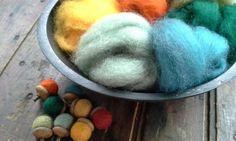 NEW Fall Harvest Sampler - Needle Felting Wool -Wet Felting Wool-Nuno Felting