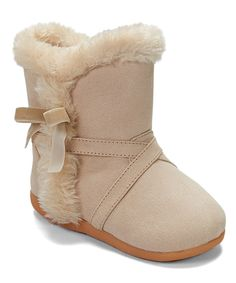 Take a look at this Cream Stephanie Squeaker Boot by Itzy Bitzy on today! Toddler Fashion, Kids Fashion, Fashion Outfits, Little Girl Boots, Stylish Little Girls, December Baby, Baby Swag, Toddler Boots, Pretty And Cute
