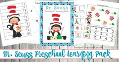Dr Seuss Printable for Tots and Preschoolers - http://homeschoolpreschool.net/free-dr-seuss-preschool-printable/