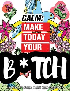 Calm Make Today Your Bitch The Epic Profane Adult Coloring Book
