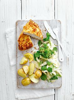 Crispy breaded chicken pairs perfectly with zingy fennel in this quick midweek meal recipe.