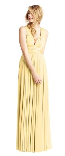 Twobirds Brautjungfer Classic Cap Sleeve Tank Ballkleid in Butter Gelb