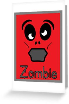 """""""Zombie by 'Chillee Wilson'"""" Greeting Cards & Postcards by ChilleeWilson 