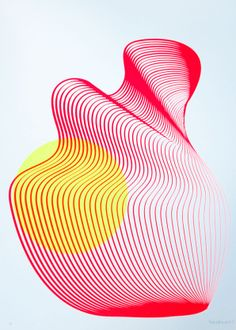 Sitting Sun - silkscreen print by KATE BANAZI