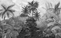 Forest Wallpaper, Wallpaper Size, Kids Wallpaper, Textured Wallpaper, Forest Landscape, Landscape Walls, Vintage Style Wallpaper, Tropical Wallpaper, Black And White Wallpaper