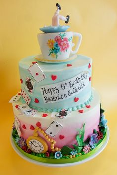 Amazing 1383 Best Wonderland Cakes Images Alice In Wonderland Cakes Personalised Birthday Cards Cominlily Jamesorg