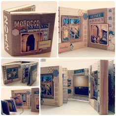"Mini-Album ""Morrocco Moments"" using #teresacollins #vintagefinds collection"