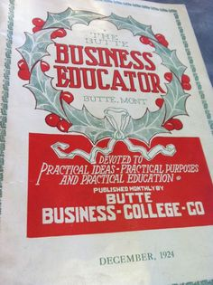 Butte Business College in Montana; 1890-1975