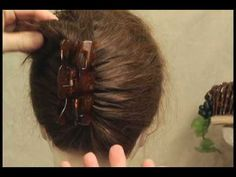 The Claw Clip has no clue how to hold up my hair! Plus the bulk of them is lame - next attempt the French Comb. How to use a 'French comb' to hold your hairdo instead of a common 'claw clip'.