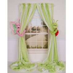 Curtain Critters Children's Plush Flower Garden Pink and Green Butterfly and Green and Red Ladybug Curtain Tieback, Car Seat, Stroller, Crib Toy Collector Set:Amazon:Baby