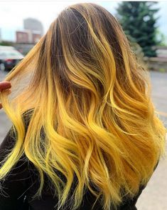 crafted is the artist… Pulp Riot is the paint.crafted is the artist… Pulp Riot is the paint. Blonde Ombre Hair, Honey Blonde Hair, Blonde Hair With Highlights, Orange Ombre Hair, Bright Blonde, White Blonde, Blonde Balayage, Yellow Hair Color, Cool Hair Color