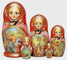 The Russian Nested Dolls.  I have always loved these beautiful dolls.