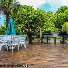 "Grilling ""beach style"" - Sand Pebble Resort - Treasure Island, FL  #VRIvacations # amazing #condo #vacation #rentals #smile #beach"