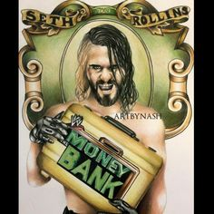 New colored pencil drawing of Mr. Money in the bank @WWERollins ! #WWE #wwefanart #SethRollins pic.twitter.com/pQptVAA1uT