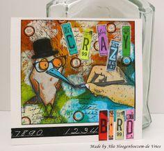 Alie Hoogenboezem-de Vries: Colourful card and ATC