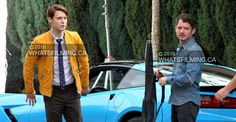 Elijah Wood & Samuel Barnett Filming Dirk Gently in Vancouver (Photos)