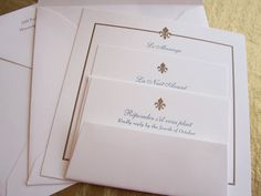 Design + Print: fleur de lis wedding invitations : Lunalux ...
