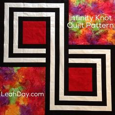 """= free pattern = Infinity Knot Quilt, 50 x 50"""", by Leah Day"""