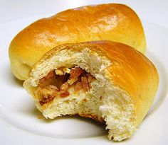 Lithuanian Bacon Buns   I used to eat these all the time when I was a little girl growing up in Chicago!  I actually forgot about these until my parents came to visit and I was baking a lot for the holidays.  So glad I found a recipe!