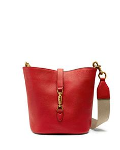 Jackie Soft Leather Bucket Bag, Red by Gucci at Neiman Marcus.